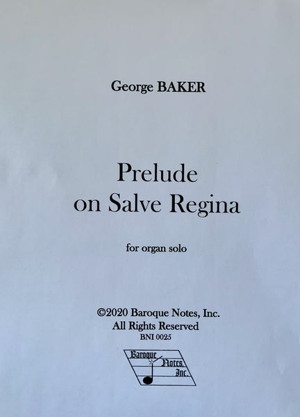Image of Prelude on Salve Regina (PDF)