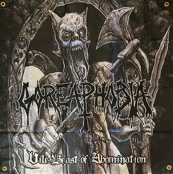 """Image of Goreaphobia """" Vile Beast of Abomination """" Flag / Banner / Tapestry"""