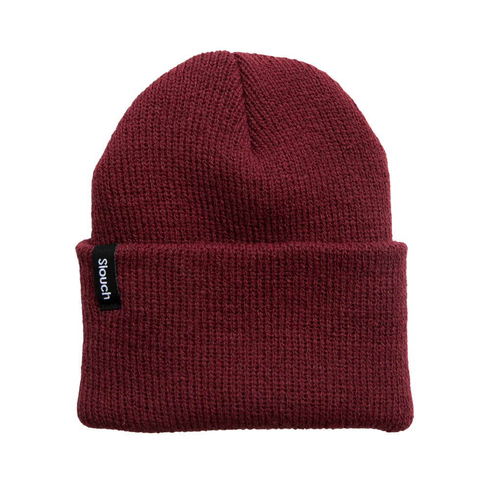 Image of Maroon Knit Cuff Beanie