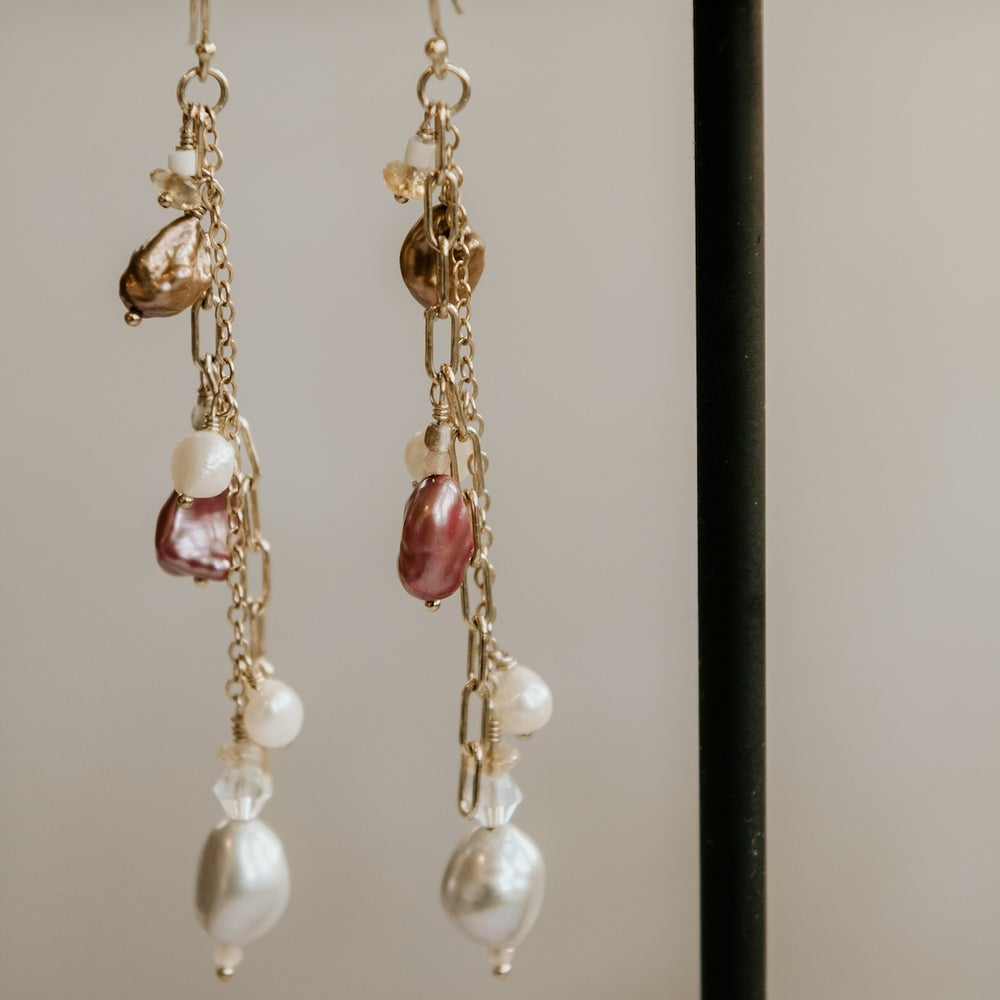 Image of Diana Cocktail Earrings Pink