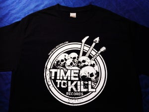 Image of Time To Kill Records Official T-shirt SKULLS
