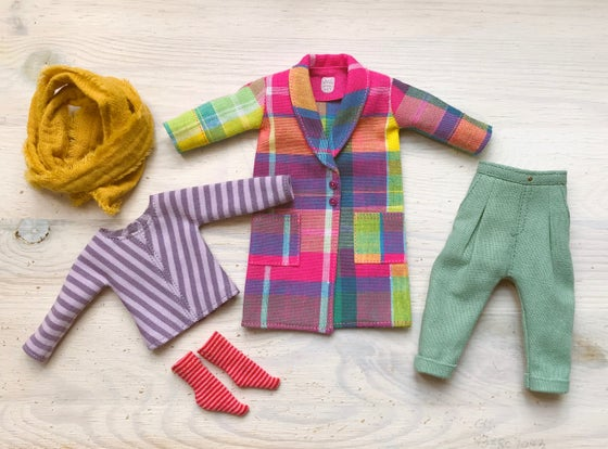 Image of Rainbow coat SET for Neo Blythe