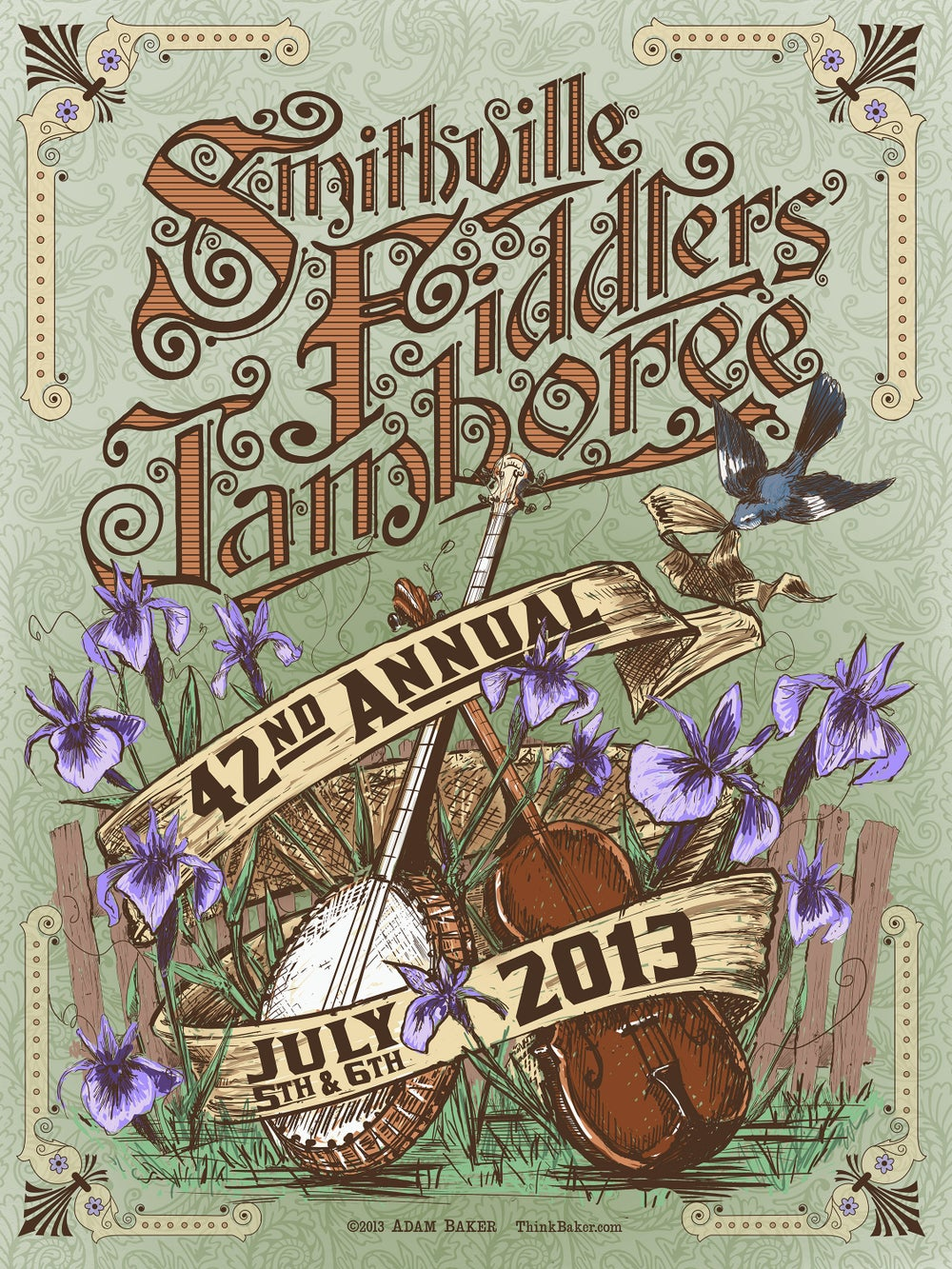 42nd Annual  Smithville Fiddlers' Jamboree Screenprint Poster
