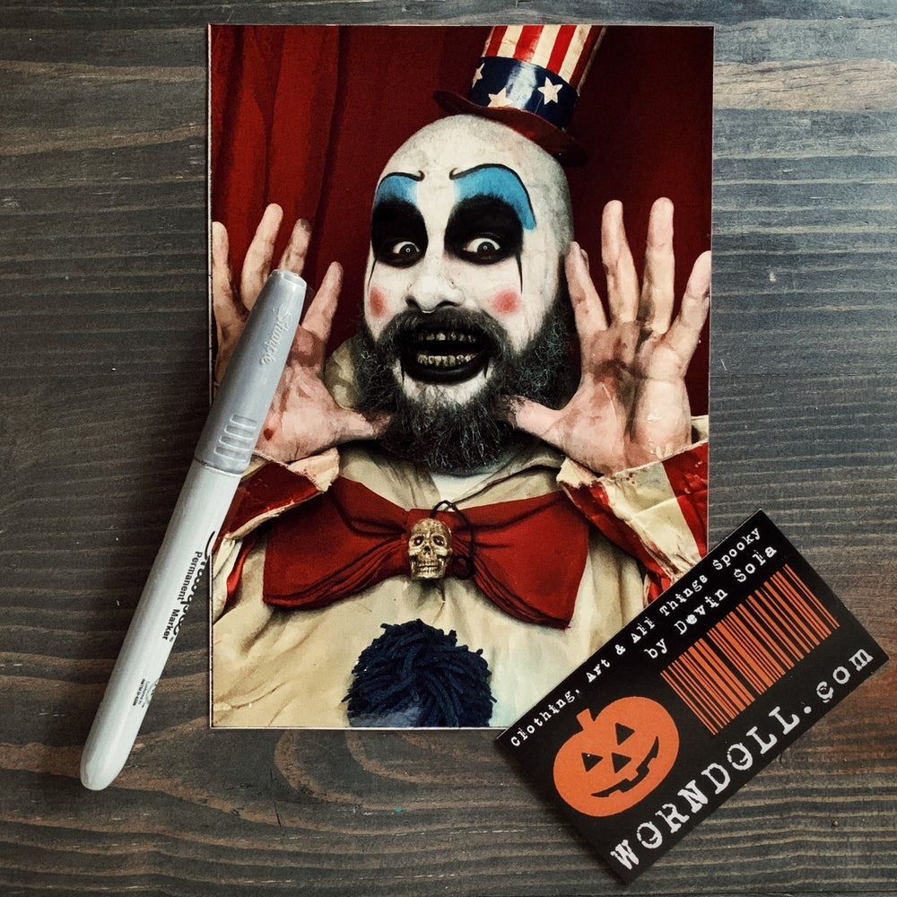 Image of Captain Spaulding - House of 1000 Corpses Signed Print