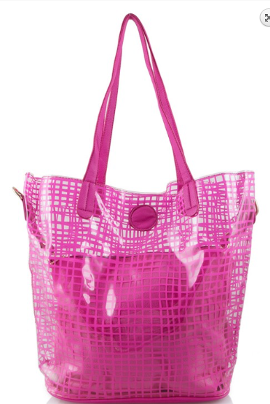 Image of See Through Tote In Pink