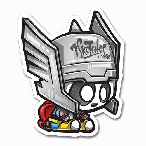 Image of Panda Thor Sticker