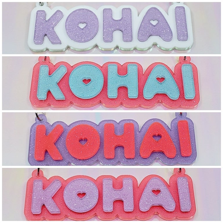 Image of KOHAI Acrylic Nameplate Necklace