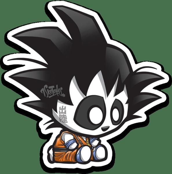 Image of Panda Goku Sticker