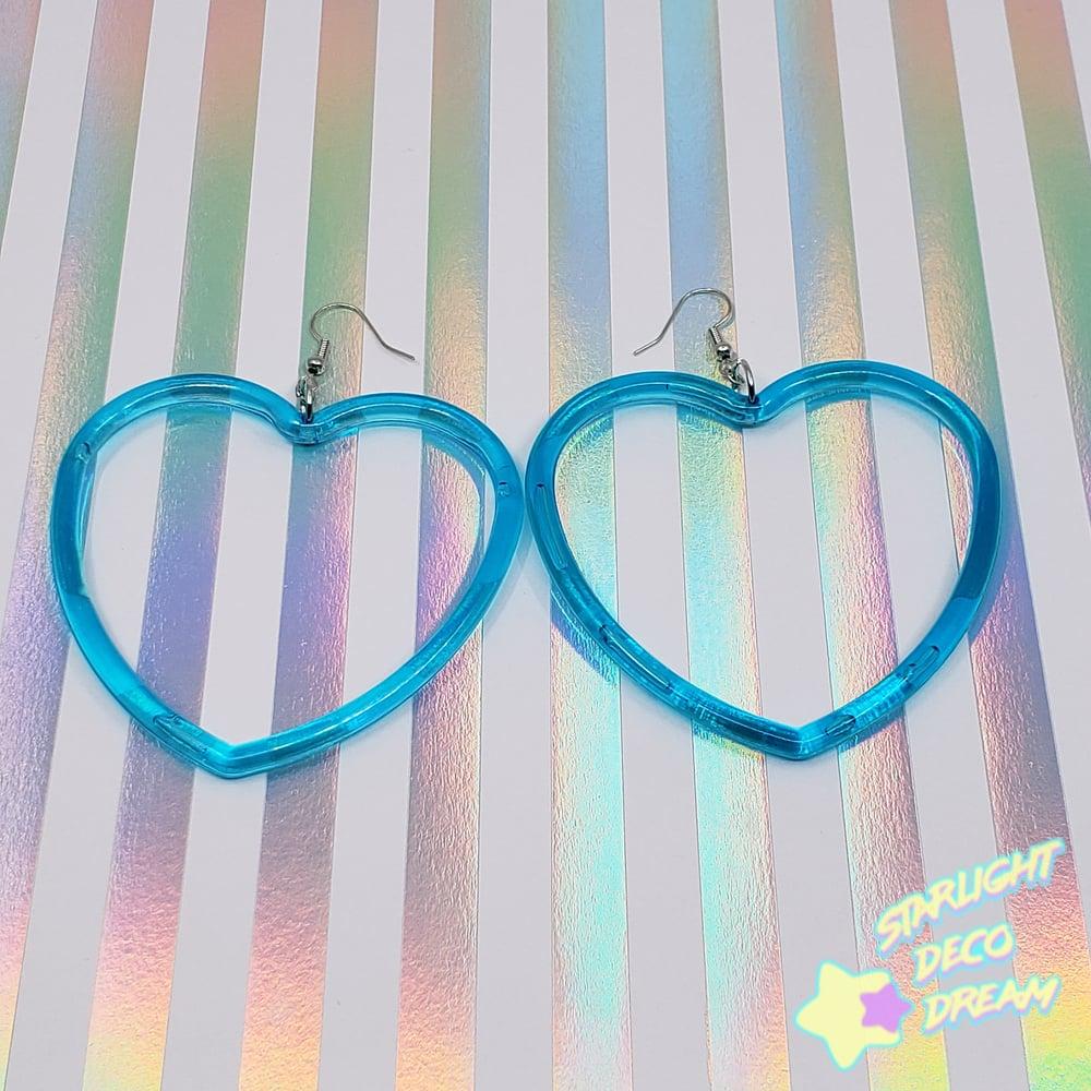 Image of Heart Hoops Earrings