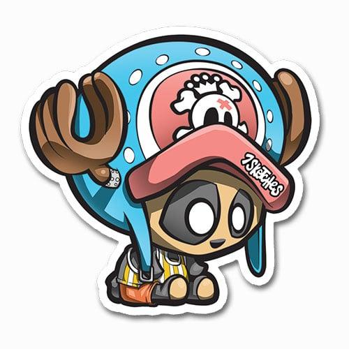 Image of Panda Chopper Sticker