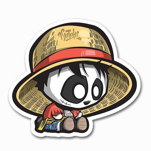 Image of Panda Luffy Sticker