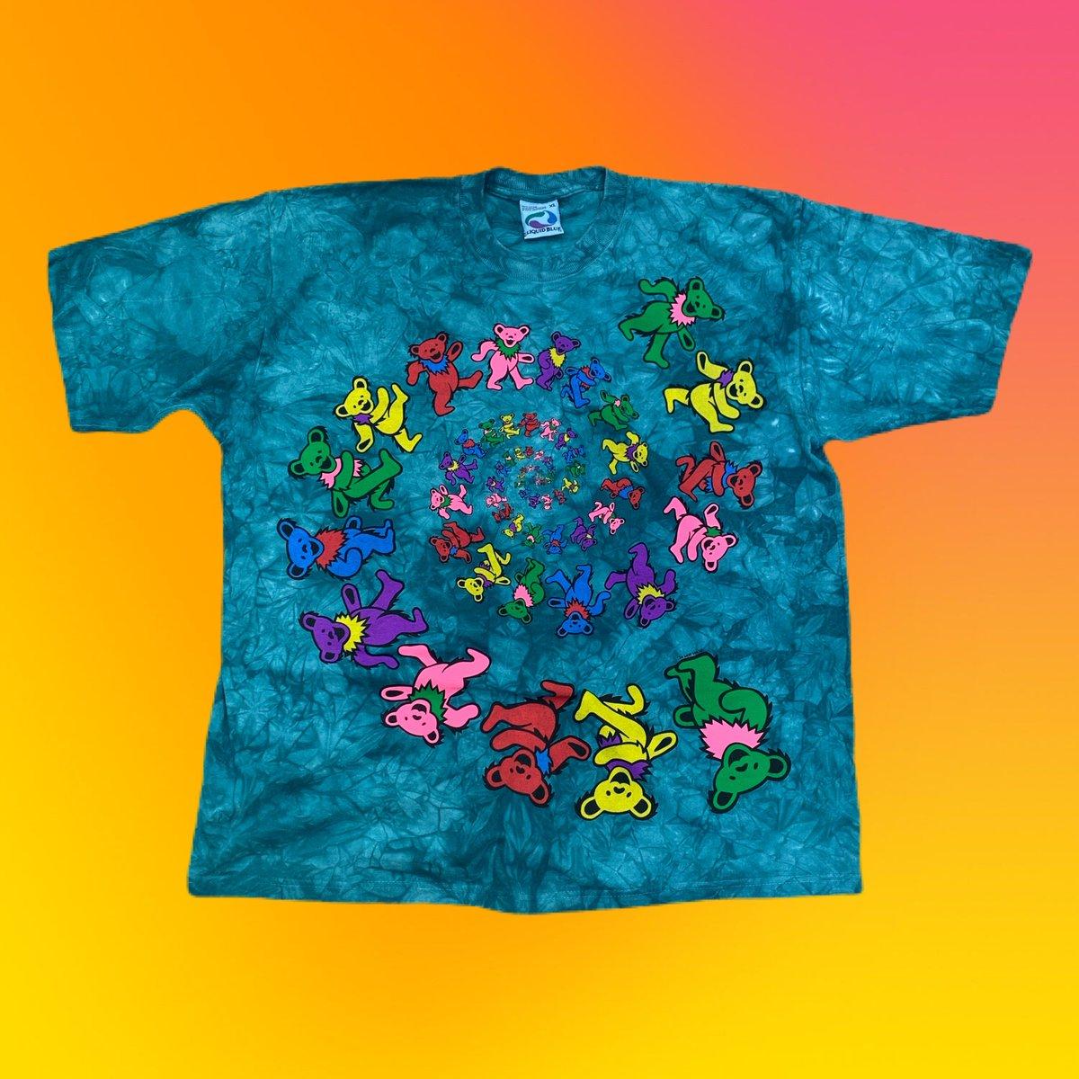 X-Large Original Vintage Grateful Dead 90's Spiral Bears Dye!