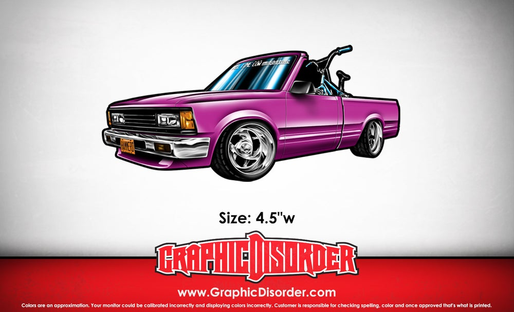 Image of Just The Mini Truck Sticker - Mike Dominguez