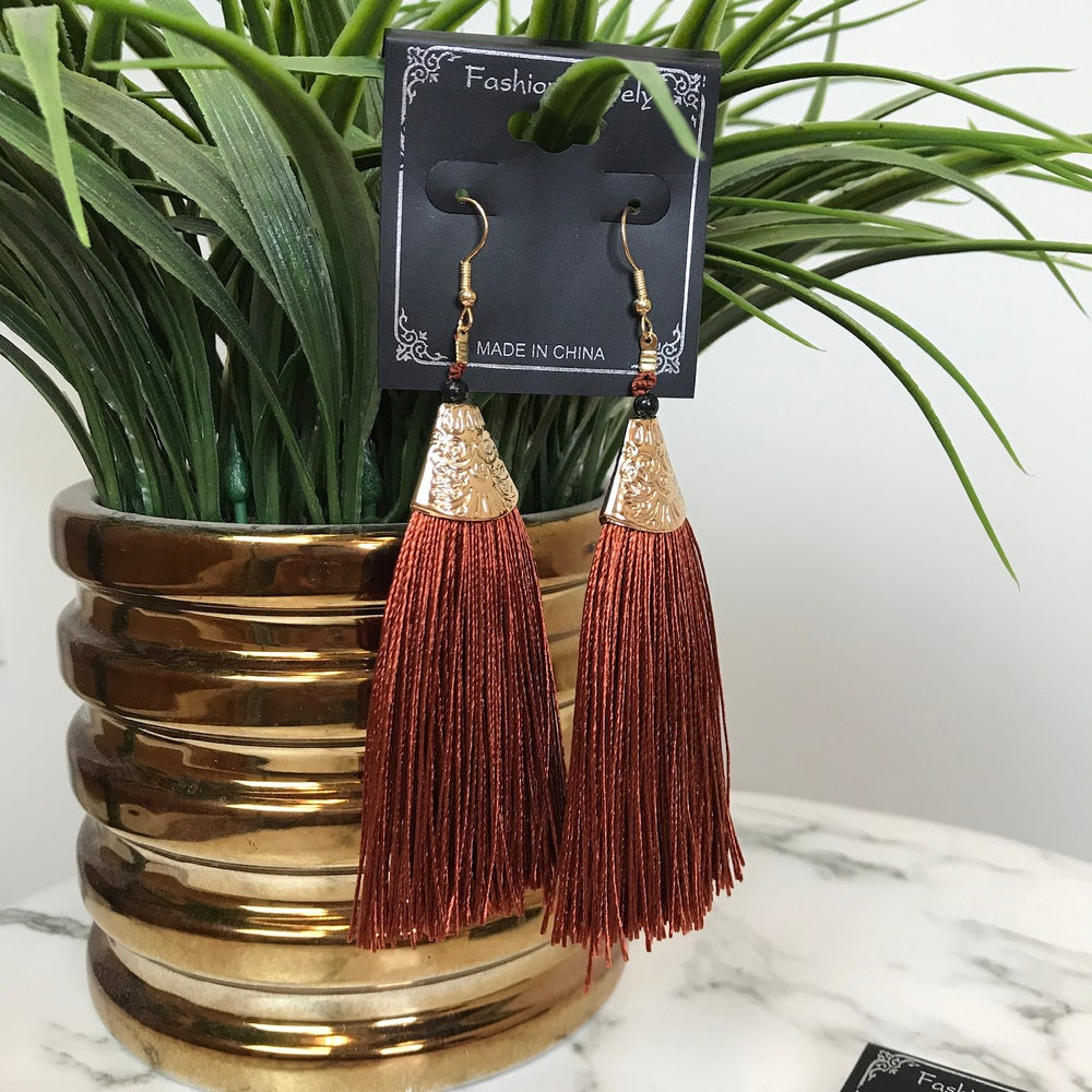 Image of Cocoa Babe Tassel Earrings