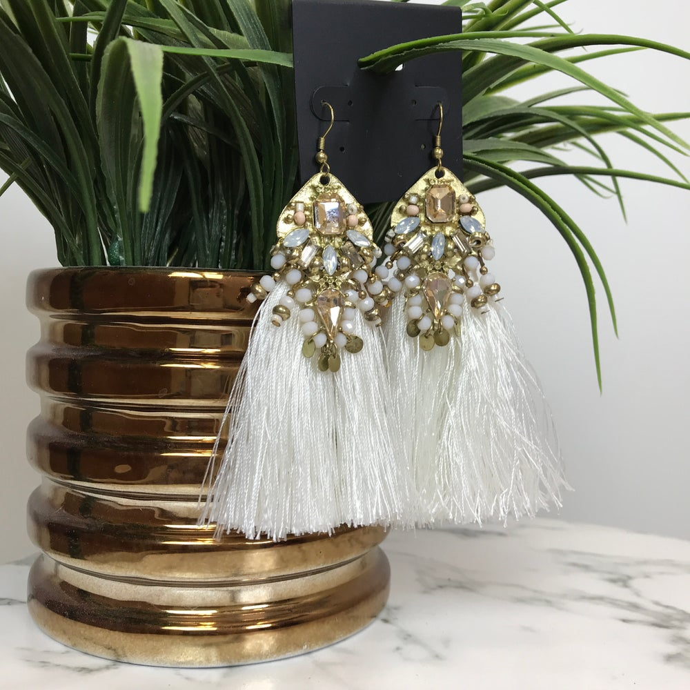 Image of Beach Queen Tassel Earrings