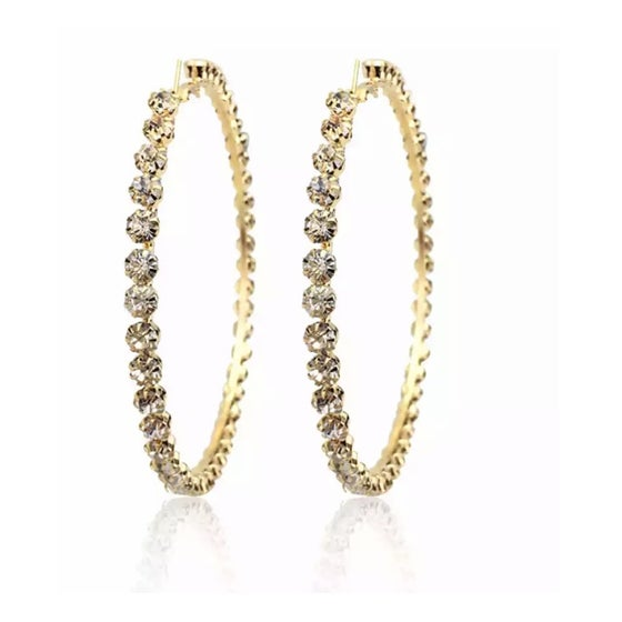 Image of Kryss Studded Hoopz
