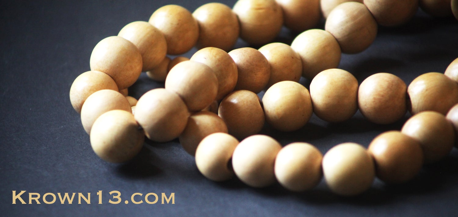 King's Tan Wood Beads