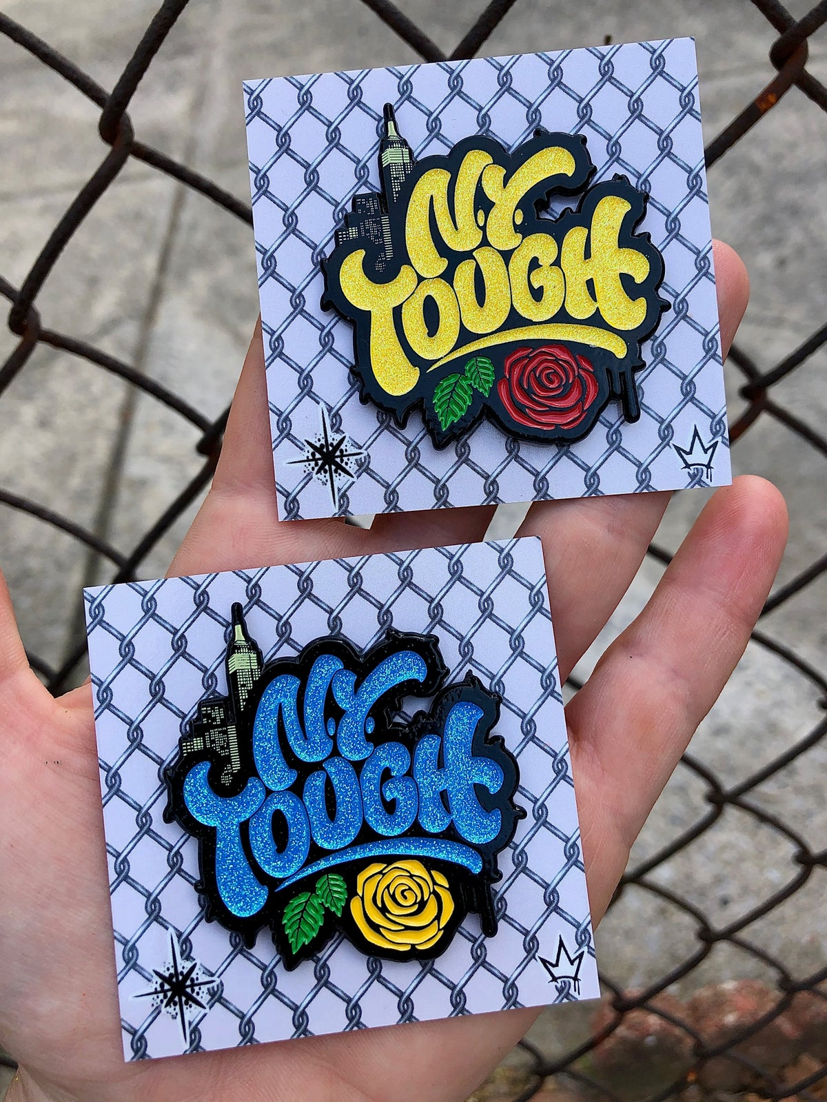 Image of NY Tough Collaboration with Jenna Morello Double Pin Set
