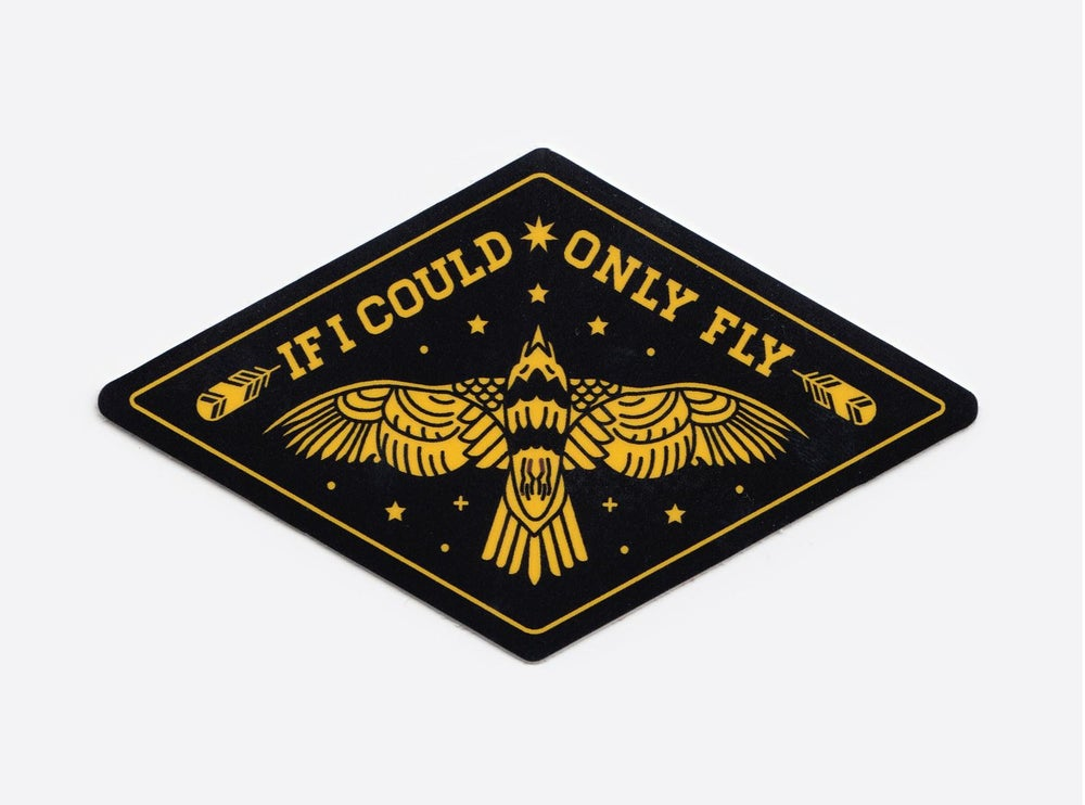 Image of If I Could Only Fly Sticker
