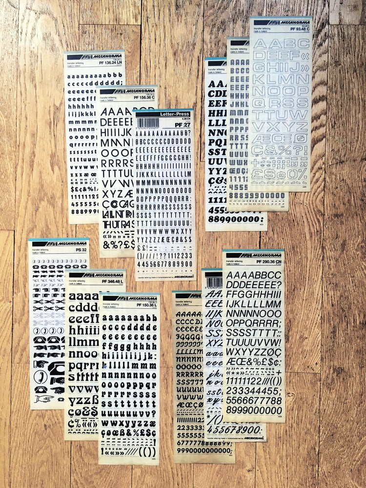 Image of Lot de 12 planches Letraset / Mecanorma d'origine - 003