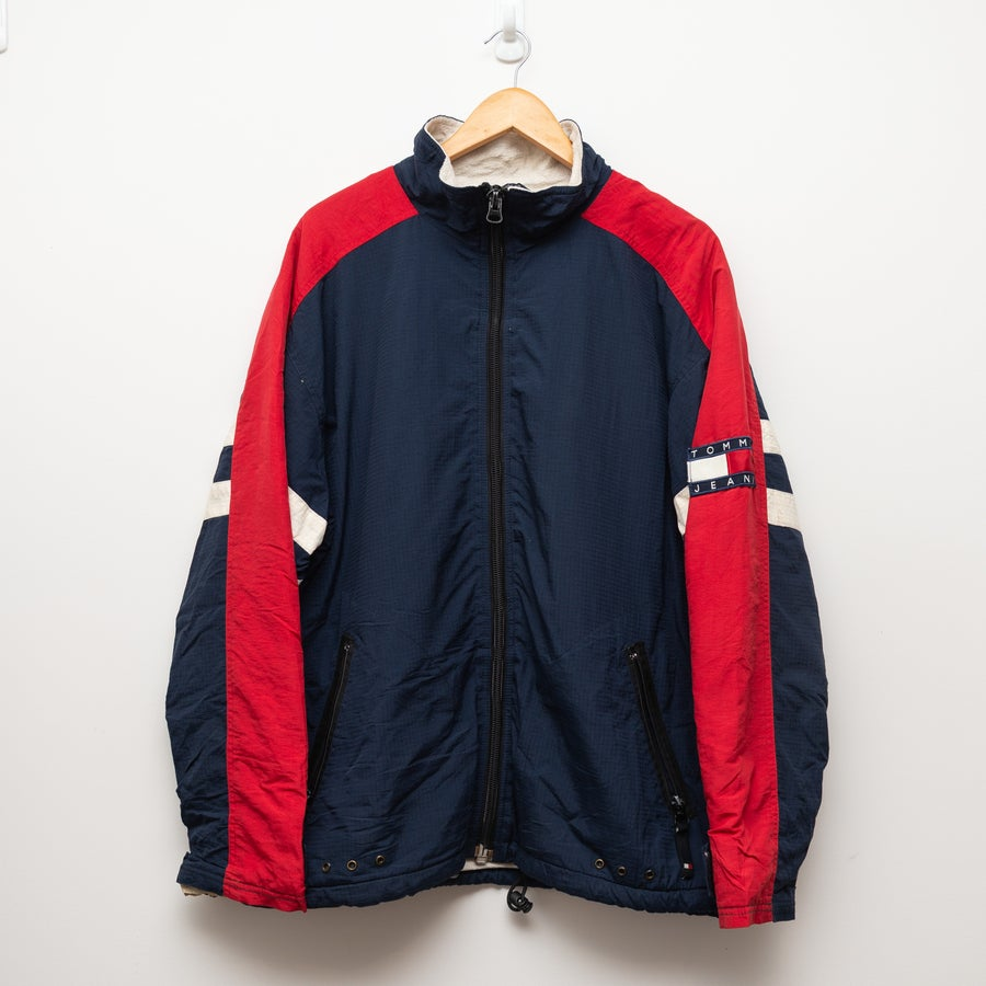 Image of Tommy Jeans Jacket (red and blue)
