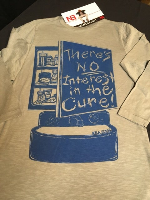"Image of ""The CURE"" - (Grey) - Longsleeve"