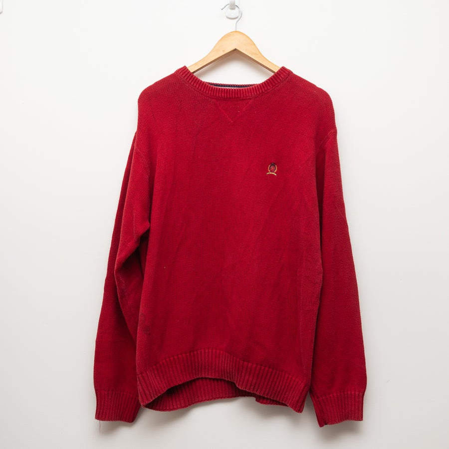 Image of Hilfiger Sweater Red (old logo)