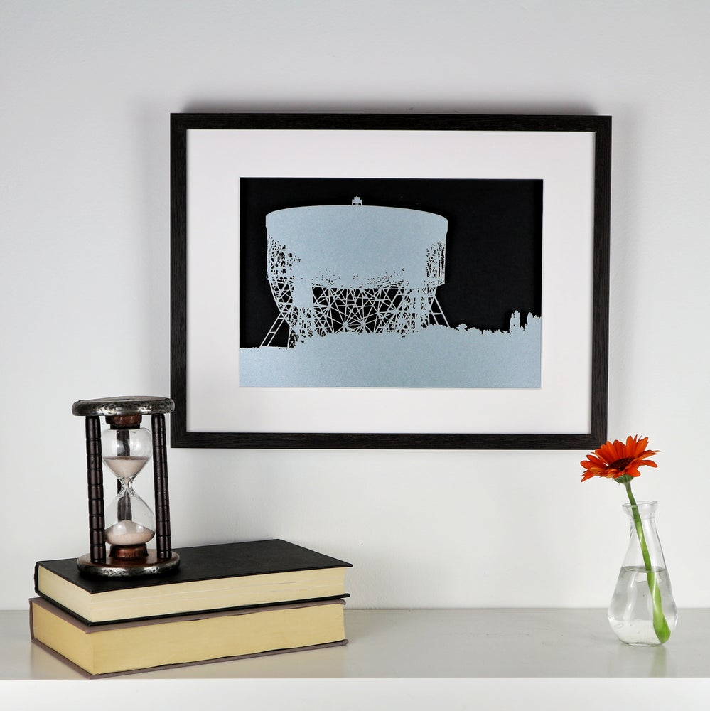 Image of Jodrell Bank - Framed Papercut Picture
