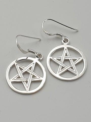 Image of PENTAGRAM Sterling Silver Earrings