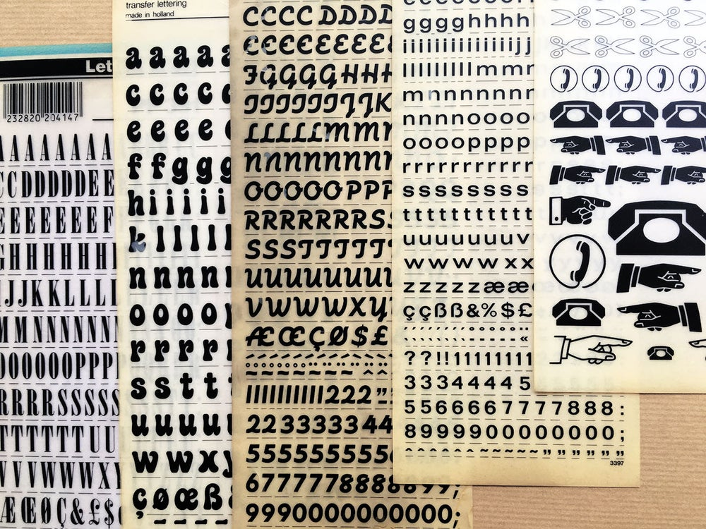Image of LOT DE 5 LETRASET / MECANORMA - 002