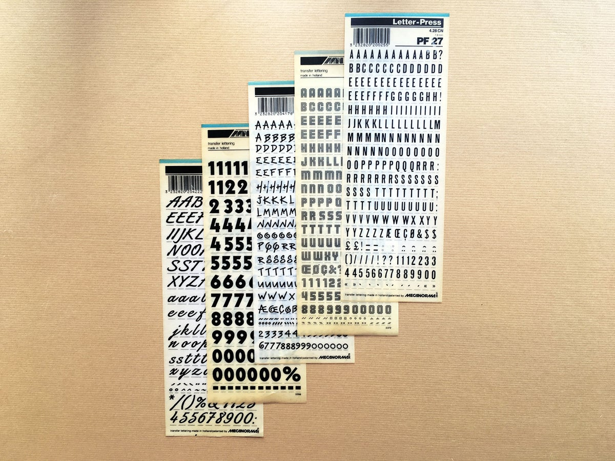 Image of LOT DE 5 LETRASET / MECANORMA - 001