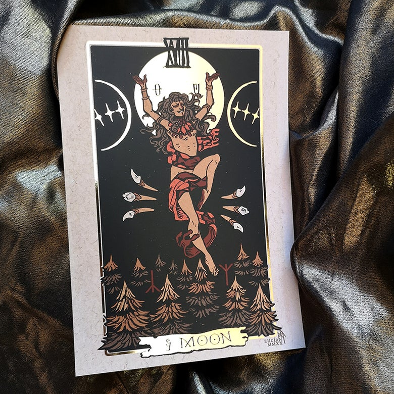 Image of Threshold Tarot A5 Foil Art Print
