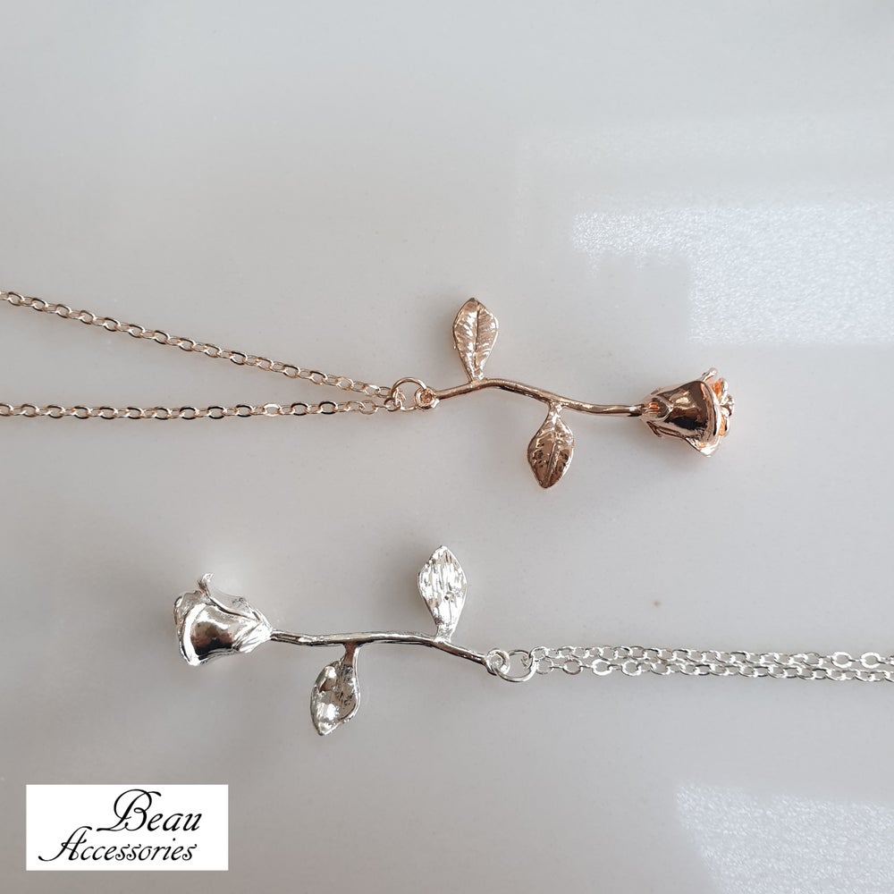 Image of Rose Pendant & Bracelet Set