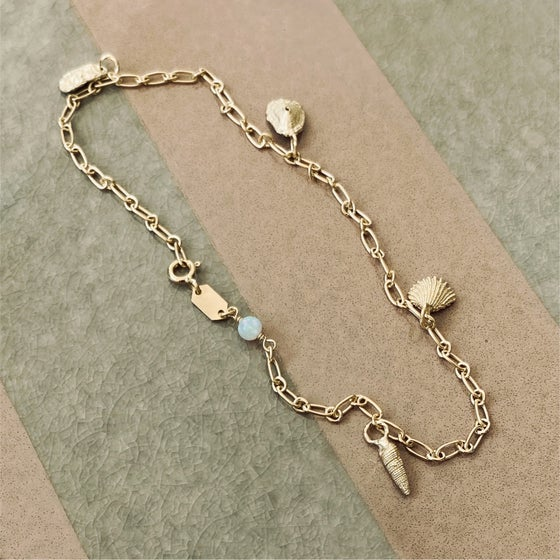 Image of LUCCA ANKLET / 24K GOLD-COATED SILVER