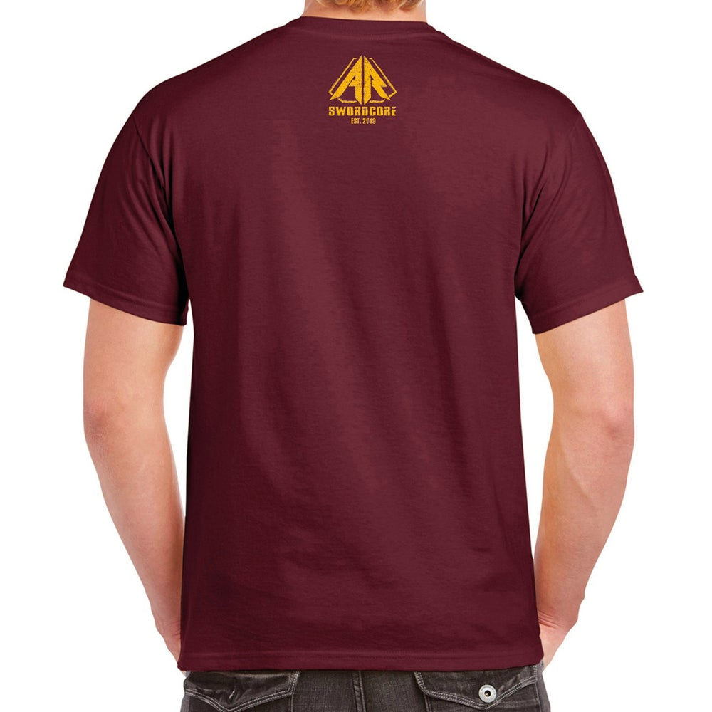 """Sharp Blade Basic"" T-Shirt maroon"