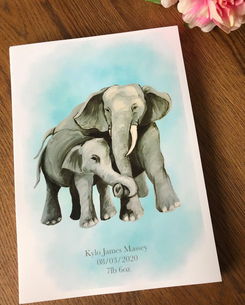 Image of Elephant & Child Art Print