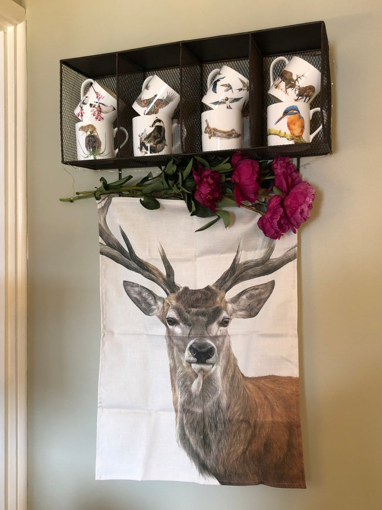 Image of 'Red Deer' Tea Towel