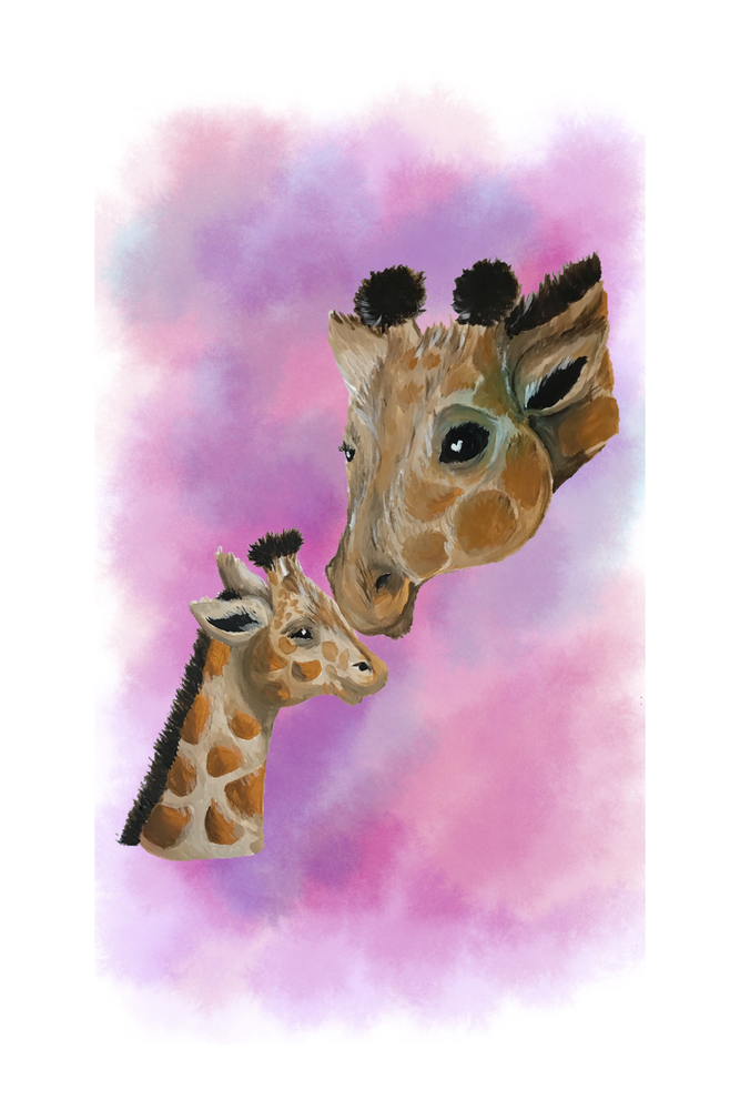 Image of Giraffe & Child Art Print