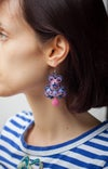 Steady Earrings - Drop in the sea - Boucles brodées