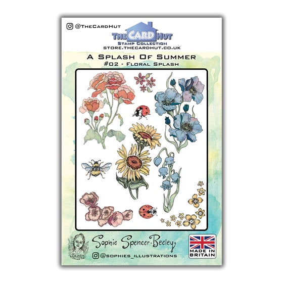 Image of Floral Splash Stamp Set