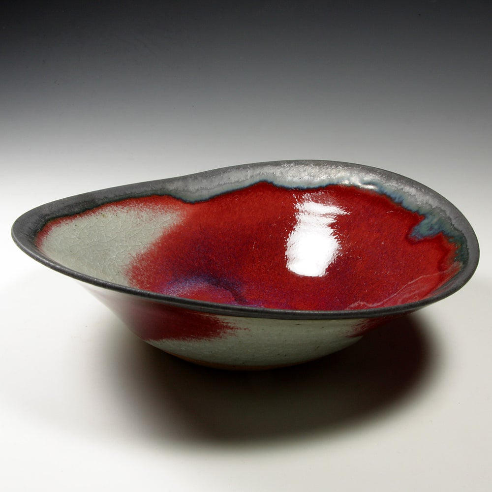 Copper red bowl (e046)