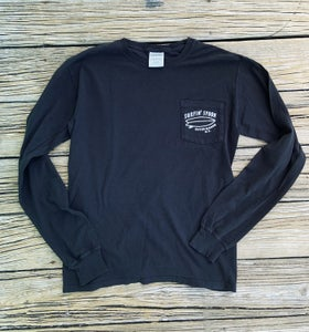 Image of NEW // Long Sleeve Pocket Tee - Black