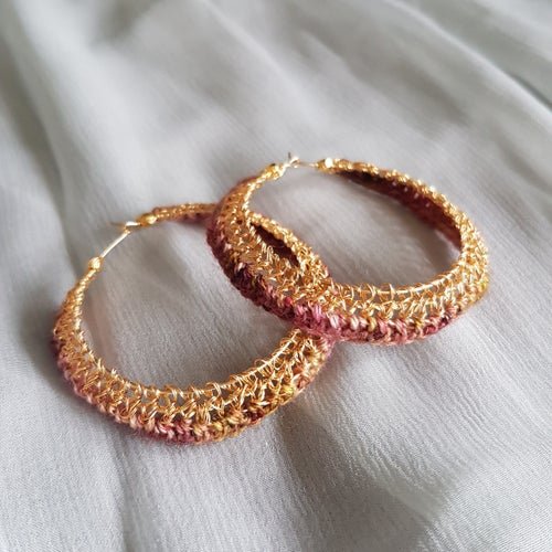 Image of ROSE-PETAL HOOPS