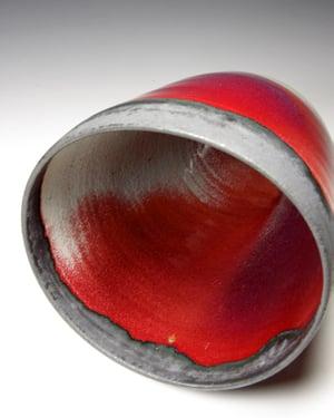 Copper red serving bowl (e048)