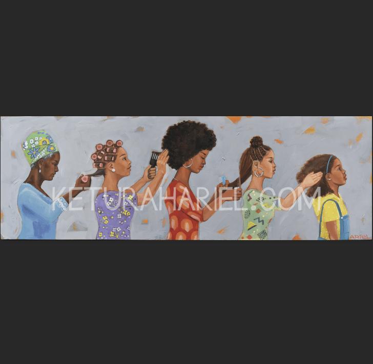 Image of Black Women Hair History Print