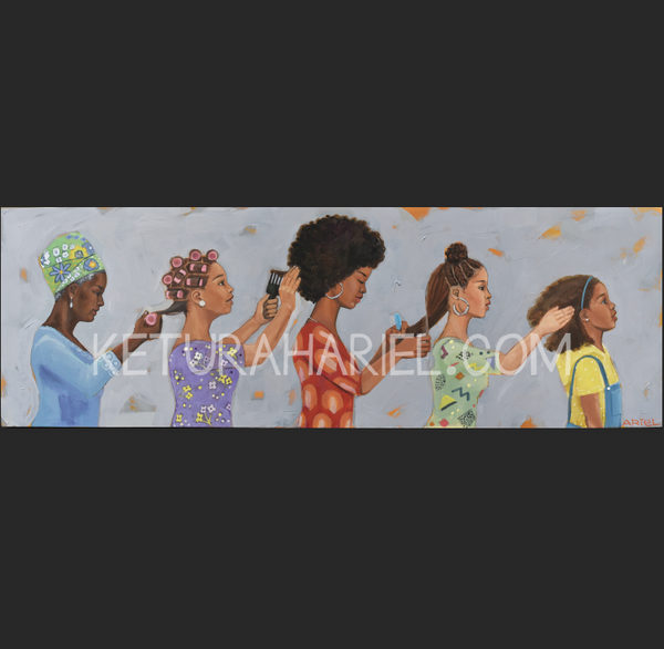 Image of Black Women Hair History Print