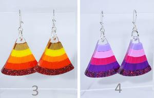 Image of Mosaic Fan Earrings 1 to 4