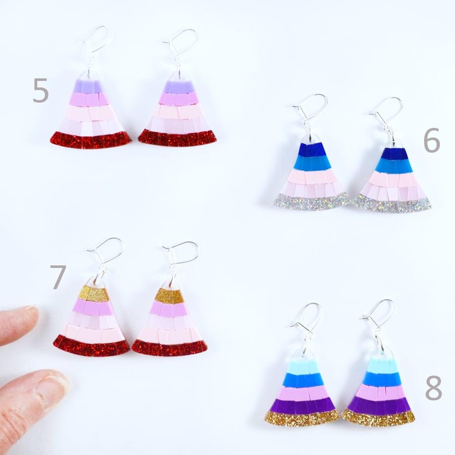 Image of Mosaic Fan Earrings 5 to 8