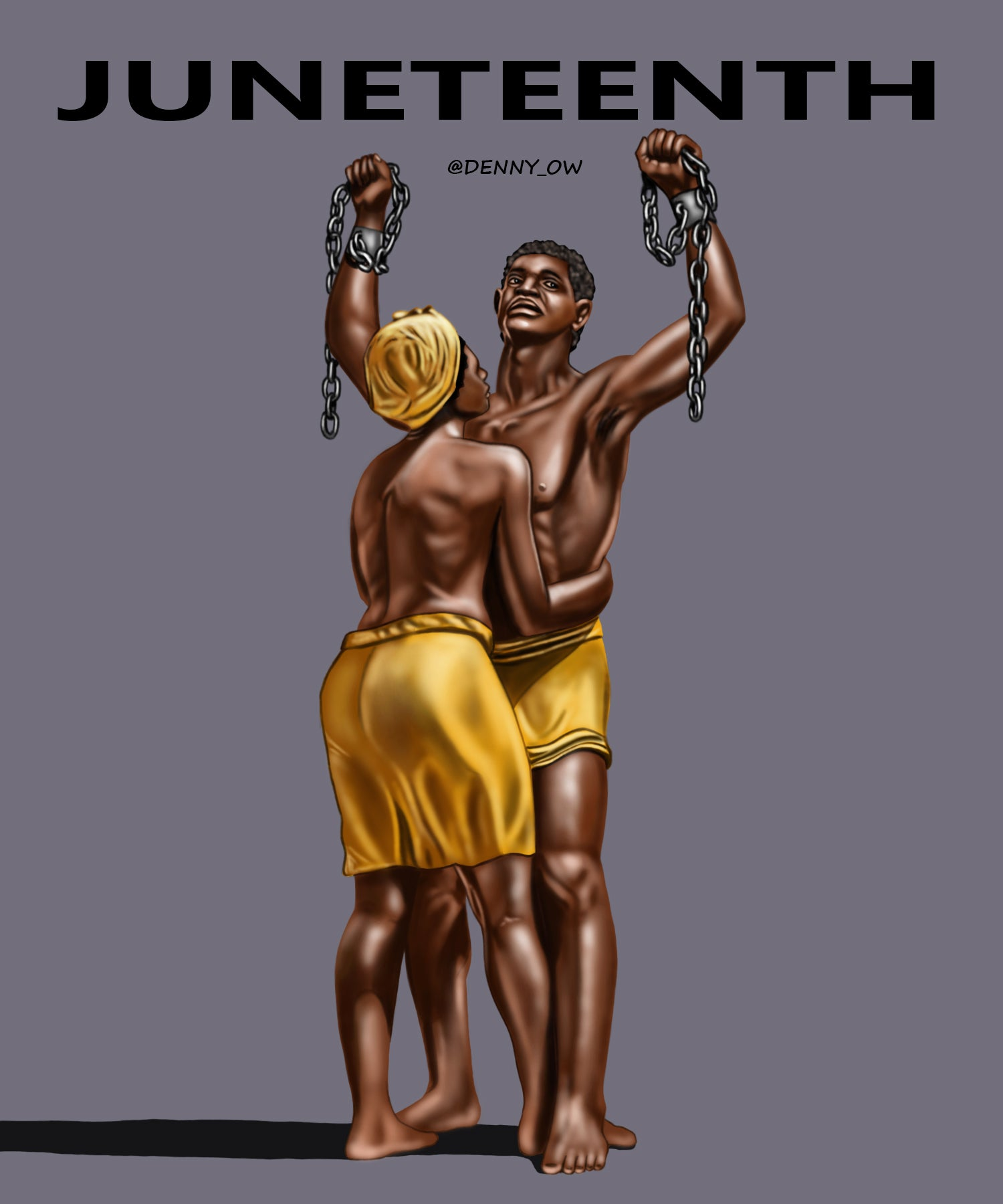 "Image of JUNETEENTH  Stretched Canvas Print 24"" x 30"""