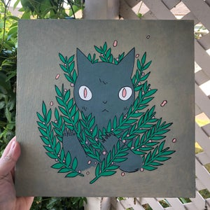 Image of Bush Cat Painting